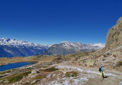 De tocht van de meren met de elektrische fiets van Alpe d'Huez